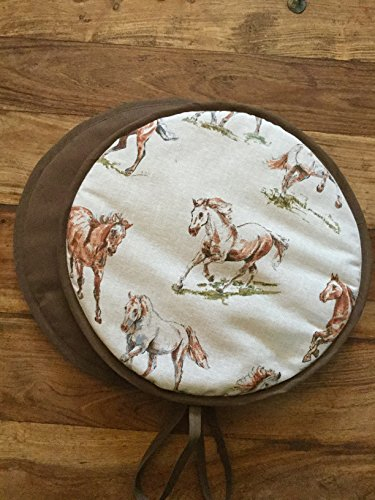 Pair of Wild Horse Stallion Range Cooker Hob Hob Lid Covers Hob Top Pads