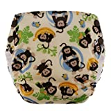 Blueberry Basix All in One Diapers, Monkeys, Large