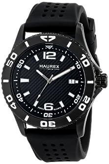 buy Haurex Italy Men'S 3N500Usn Factor Black Ion-Plated Coated Stainless Steel Rotating Bezel Date Watch