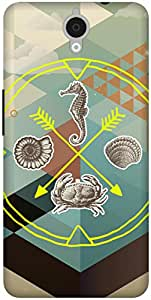 The Racoon Grip Sea Life hard plastic printed back case / cover for Alcatel Onetouch Idol X Plus 6043D