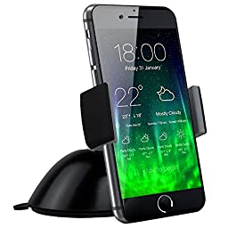 Koomus Pro Dashboard Windshield Smartphone Car Mount Holder Cradle for iPhone 6 6 Plus 5S 5C 5 Samsung Galaxy and all Smartphones
