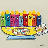 Chanukah Menorah Candle Finger Puppets / Set Of 9