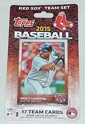 2015 Boston Red Sox Topps Factory Sealed Limited Edition 17 Card Team Set with Dustin Pedroia, David Ortiz Plus