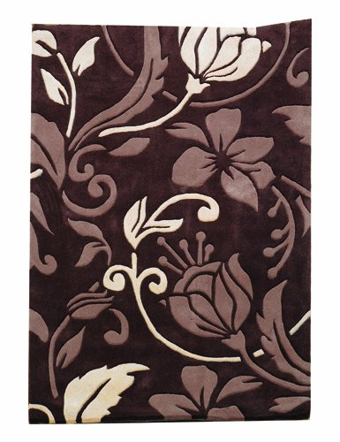 Infinite Damask Chocolate / Cream Contemporary Rug/Runner Size: 110cm x 60cm (3 ft 7.5 in x 1 ft 11.5 in)