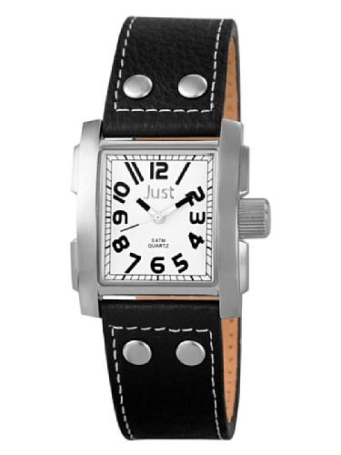 Just Watches donna-Orologio da polso al quarzo in pelle 48-S8858WH-BK