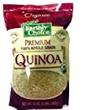 Natures Earthly Choice Premium Organic 100% Whole Grain Quinoa, 2 Pound