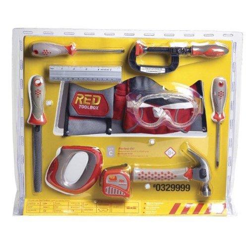 Red Tool Box 10 Piece Tool Set
