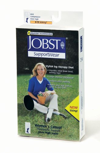 Jobst Women's Wo's Casual 8-15 mmHg Knee High Socks - 119270 - White - Medium