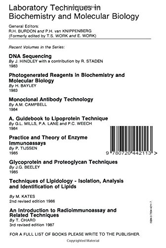 Chemical Modification of Proteins: Chemical Modification of Proteins Vol 4 (Laboratory Techniques in Biochemistry and Molecular Biology)