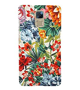 Floral Painting Cute Fashion 3D Hard Polycarbonate Designer Back Case Cover for Huawei Honor 7 :: Huawei Honor 7 Enhanced Edition :: Huawei Honor 7 Dual SIM