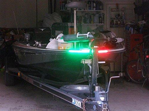 Rural Blob Outdoors Boat Bow LED Navigation Light Kit, Red & Green Strips for Bass boats, Pontoon, Ski, Canoes, Kayaks, Triton, Ranger, BassCat, Nitro, Tracker Seagoing, Legend, Skeeter, Sun Tracker