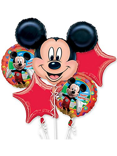 Mickey Mouse Birthday Bouquet Of Balloons - 1