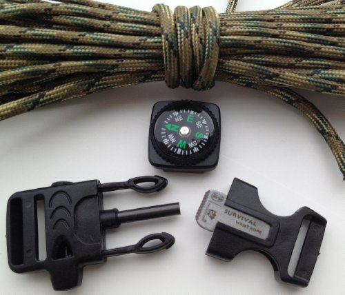 Fire Starter Buckle Flint Buckle Paracord Survival