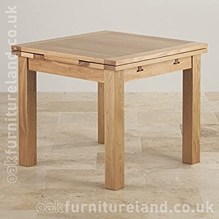3ft x 3ft Solid Oak Extending Dining Table (Seats up to 6 people Extended)