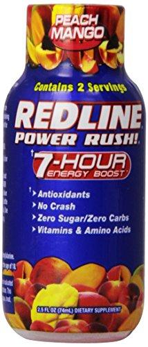 VPX Redline Power Rush 70 ml Peach Mango Energy Drink Shots - Box of 12
