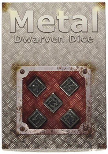 Metall Dwarven D6 Dice (5) [Import allemand]