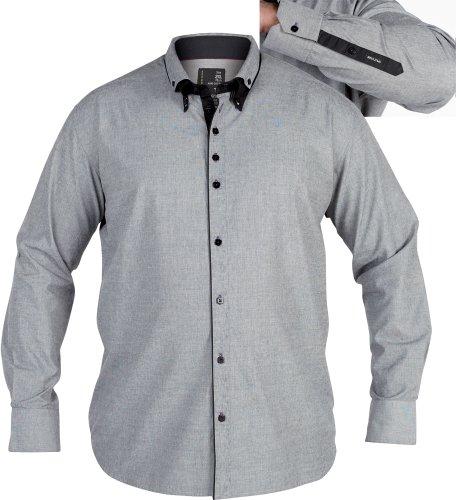 Duke Men's Formal Smart Shirt Grey 5XL