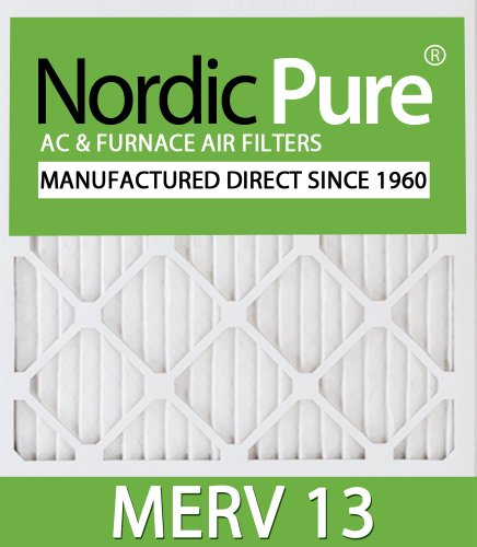 Nordic Pure 22x22x1 Exact MERV 13 Pleated AC Furnace Air Filters 6 Pack