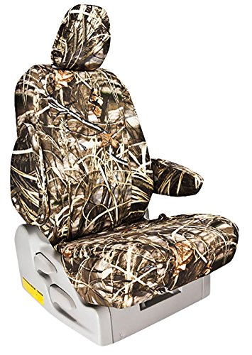 Custom Fit Ford F350 Seat Covers (2011-2015) Rear Seat Set - In Realtree Camo Max 4 Print - 40/60 Bottom W/ Solid Back And Headrests (Hr Covers Not Available) (Supercab)