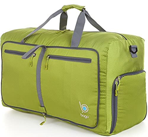 04. Bago Travel Duffel Bag For Women & Men - Foldable Duffle For Luggage Gym Sports