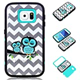 S6 Case, Galaxy S6 Case, Samsung Galaxy S6 Case, AMCHOICE[TM] [Couple Owls] Back Case For Samsung Galaxy S6 (Light Blue), [Free Stylus,Screen Protector,Cleaning Cloth]