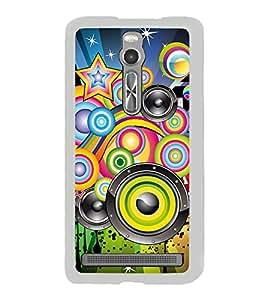 Music Graffiti 2D Hard Polycarbonate Designer Back Case Cover for Asus Zenfone 2 ZE551ML