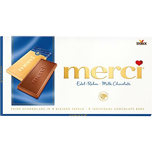 Merci Fine High Quality Milk Chocolate (4 Individual Bars) 100g (Quality Chocolate compare prices)