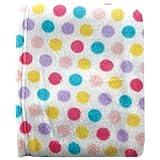"Luvable Friends Dot Print Coral Fleece Blanket, Pink , size 30"" X 36"""