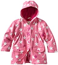 Hatley Girls 2-6x Fun Stars Rain Coat, Pink Bikini, 1T