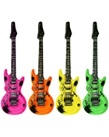 4 Inflatable Guitar Party Accessories