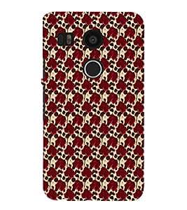 EPICCASE red roses Mobile Back Case Cover For LG Google Nexus 5X (Designer Case)