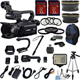 Canon XA20 Professional Camcorder with 10x HD Video Exclusive Celltime Bundle with .43x Wide Angle Lens + 2.2x Telephoto Lens + Video LED Light + Professional Size 59