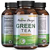 Green Tea - Weight Loss Pills - Detox Cleanse - Burn Belly Fat - Lose Weight Naturally Fast - Dietary Supplement - Pure Extract - For Men & For Women - Pre Workout + Natural Energy - By Natures Design