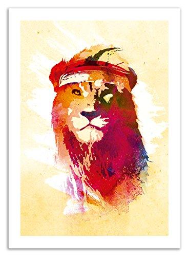 poster-Art-Gym Lion-ROBERT Farkas-50x 70cm