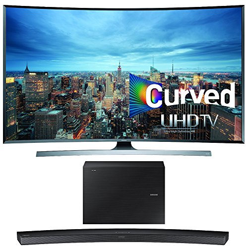 Samsung UN55JU7500 55-Inch 2160p 3D Curved 4K UHD Smart TV w/ HW-J6500 Soundbar Bundle includes UN55JU7500 55-Inch 4K TV and HW-J6500 Wireless Soundbar