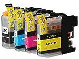 ブラザーLC110カートリッジ対応 (大容量)互換カートリッジ4色セット(ICチップ付き