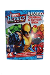 Assorted Marvel Heroes Jumbo Coloring and Activity Book