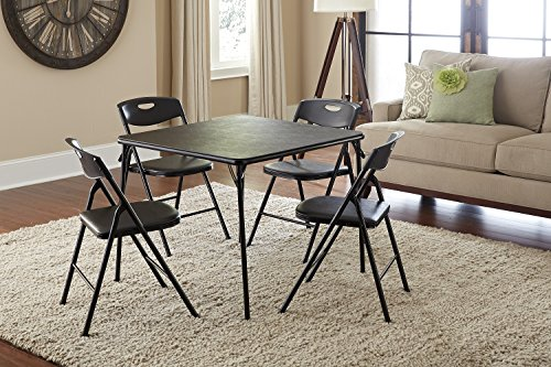 Cosco Products 5 Piece Folding Table And Chair Set Black Furnitures Sale