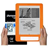 Amazon Kindle DX 9.7 inch E-Book Reader (ORANGE) Silicone Skin Rubber Case + LCD Screen Protector ~ MyGift