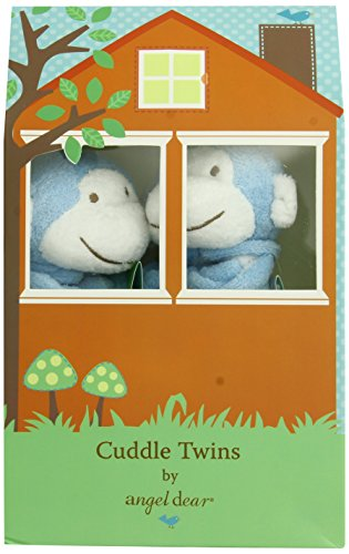 Angel Dear Cuddle Twin Set, Bright Blue Monkey