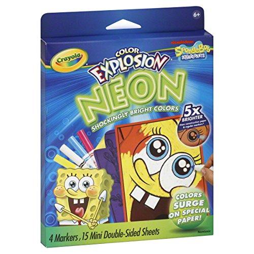 Crayola Color Neon Explosion Spongebob Squarepants Nickelodeon
