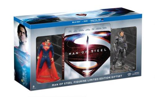 《Man of Steel Collectible Figurine》 超人钢铁之躯收藏套装(蓝光碟+DVD+数字版特典+两私人偶) $14.99