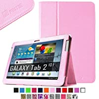 Fintie Slim Fit Folio Case Cover for Samsung Galaxy Tab 2 10.1 inch Tablet - Pink by FINTIE