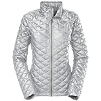 The North Face Stretch ThermoBall Women's Jacket (High Rise Grey/Luminous Pink)