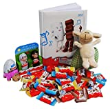 Gift Set HAPPY 2015 with Kinder Chocolate and Kinder Herlitz Calendar Book (4 parts) [GERMAN Edition]