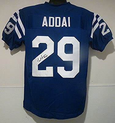 Joseph Addai Signed blue Size XL Jersey Indianapolis Colts - Authentic Autographed NFL Jerseys