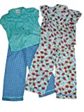 Girls Twin Pack Summer Cotton Pyjamas