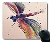 Abstract Dragonfly Painting Oblong Mouse Pad