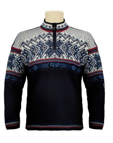 Dale-of-Norway-Erwachsene-Pullover-Vail-Midnight-NavyRed-RoseOff-WhiteIndige-China-Blue-M-90331-C