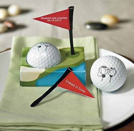 Weddingstar 8960 Golf Ball Favor in Gift Packaging- Pack of 6